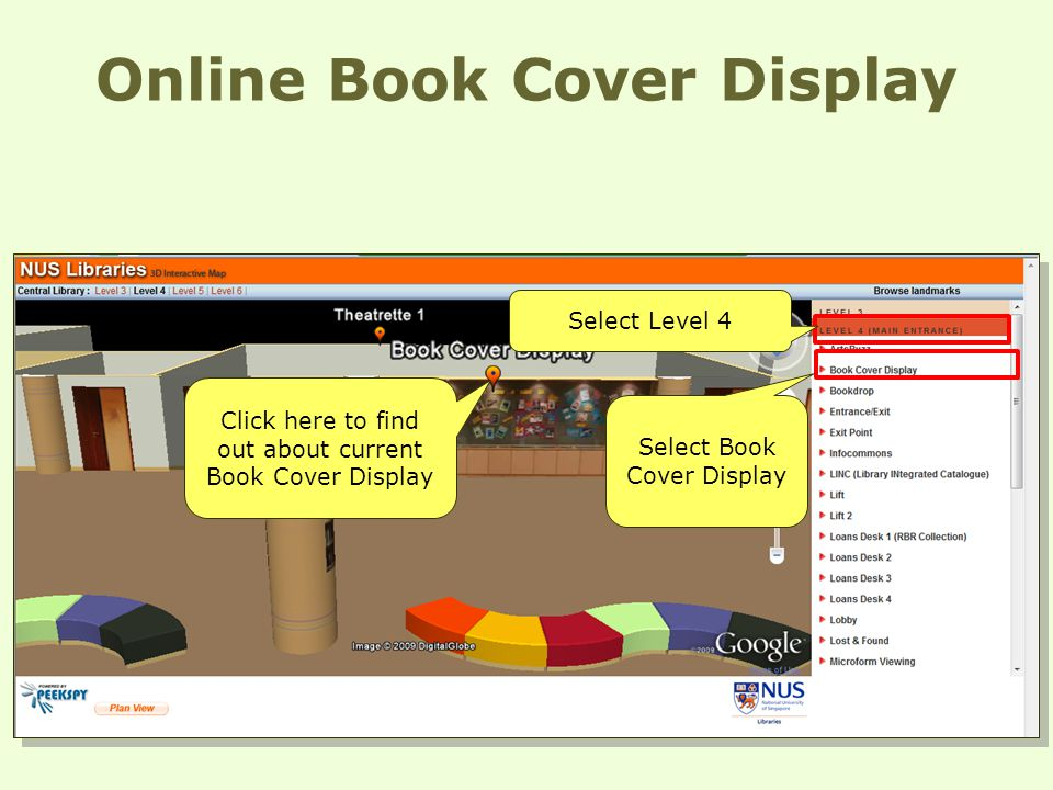 Online Book Cover Display Select Level 4 Select Book Cover Display Click here to find out about current Book Cover Display