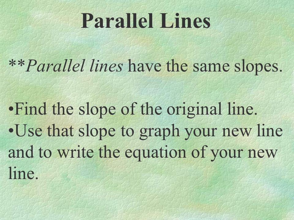 Graph a line parallel to the given line and through point (0, -1): Slope = 3 5