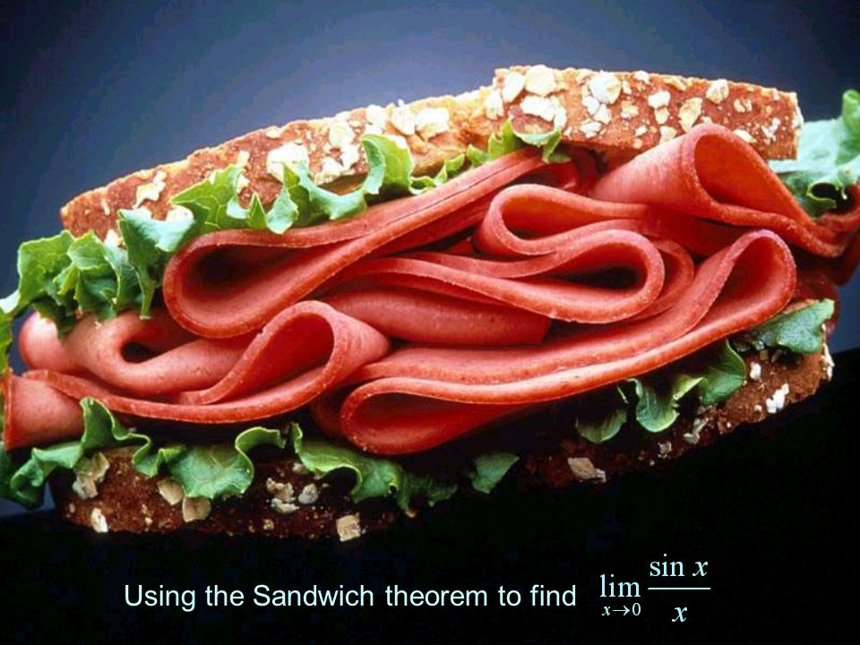 Using the Sandwich theorem to find
