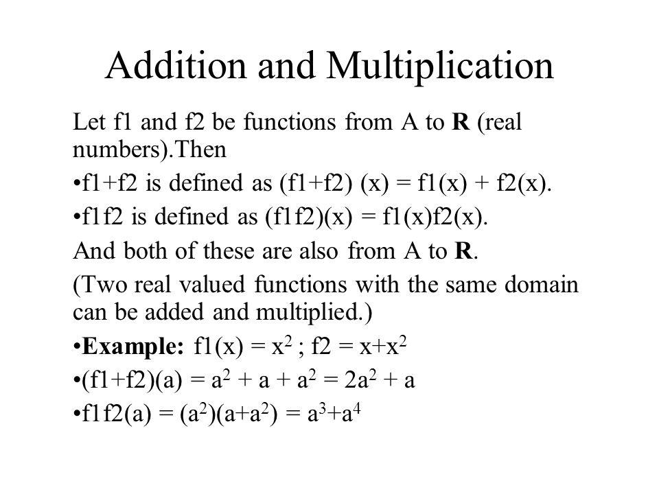 Are f1+f2 and f1f2 Commutative.