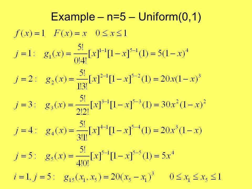 Example – n=5 – Uniform(0,1)