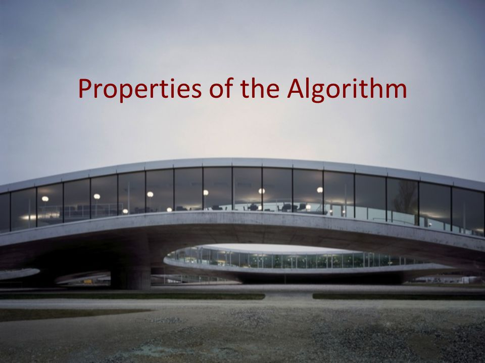 Properties of the Algorithm