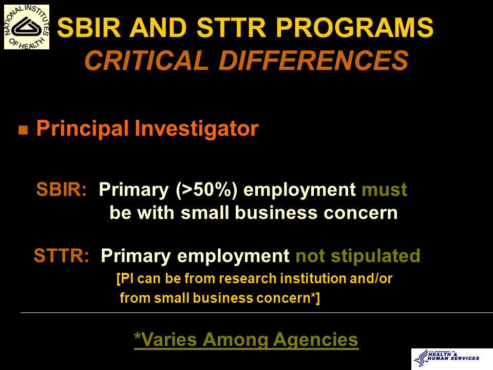 SBIR FAST-TRACK Standard application, review, award process Fast-Track review option Satisfactory Phase I Final Report Phase I 7-9 months Simultaneous submission/review Phase I + Phase II 7-9 months Phase II 6 months 24 months 6 months Phase II 7-9 months