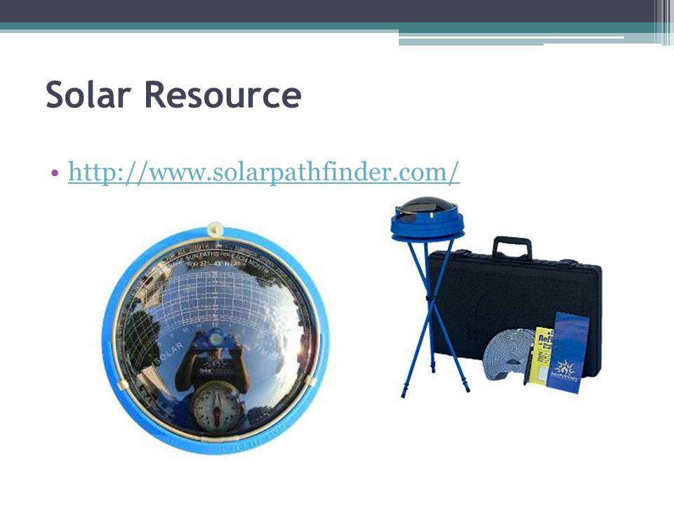Solar Resource http://www.solarpathfinder.com/