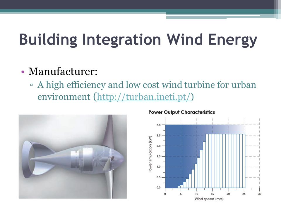 Building Integration Wind and Solar Energy Manufacturer: ▫The system omnidirectionality allows installations in urban environment.