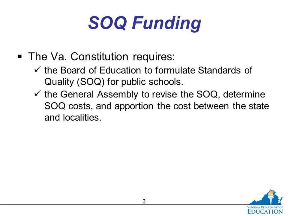 SOQ Funding  The Va.
