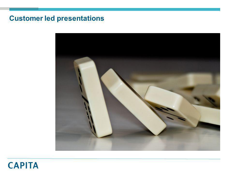 Customer led presentations