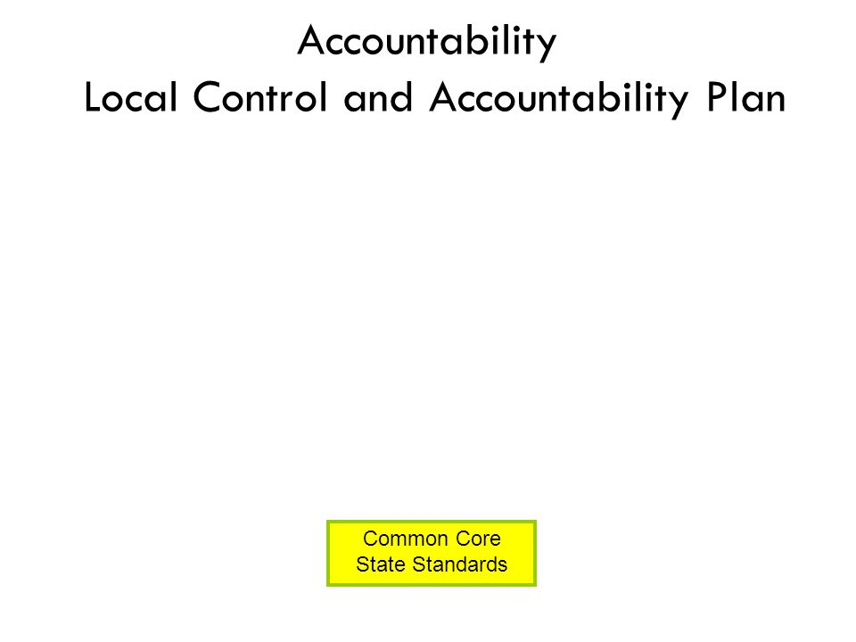 Accountability Local Control and Accountability Plan Common Core State Standards