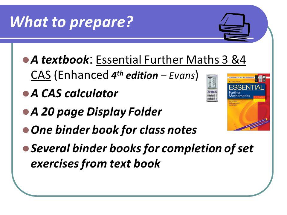 What to prepare.