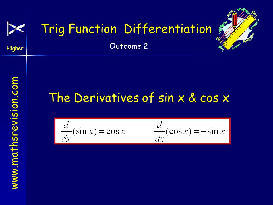 Calculus Revision Back Next Quit Differentiate Chain Rule Simplify Straight line form