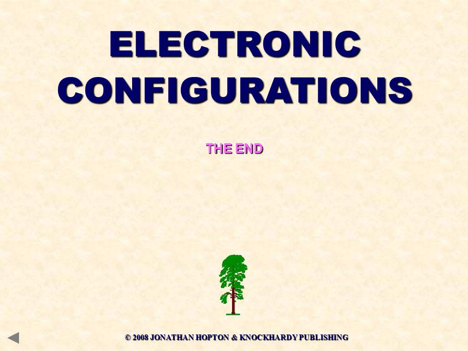ELECTRONICCONFIGURATIONS THE END © 2008 JONATHAN HOPTON & KNOCKHARDY PUBLISHING