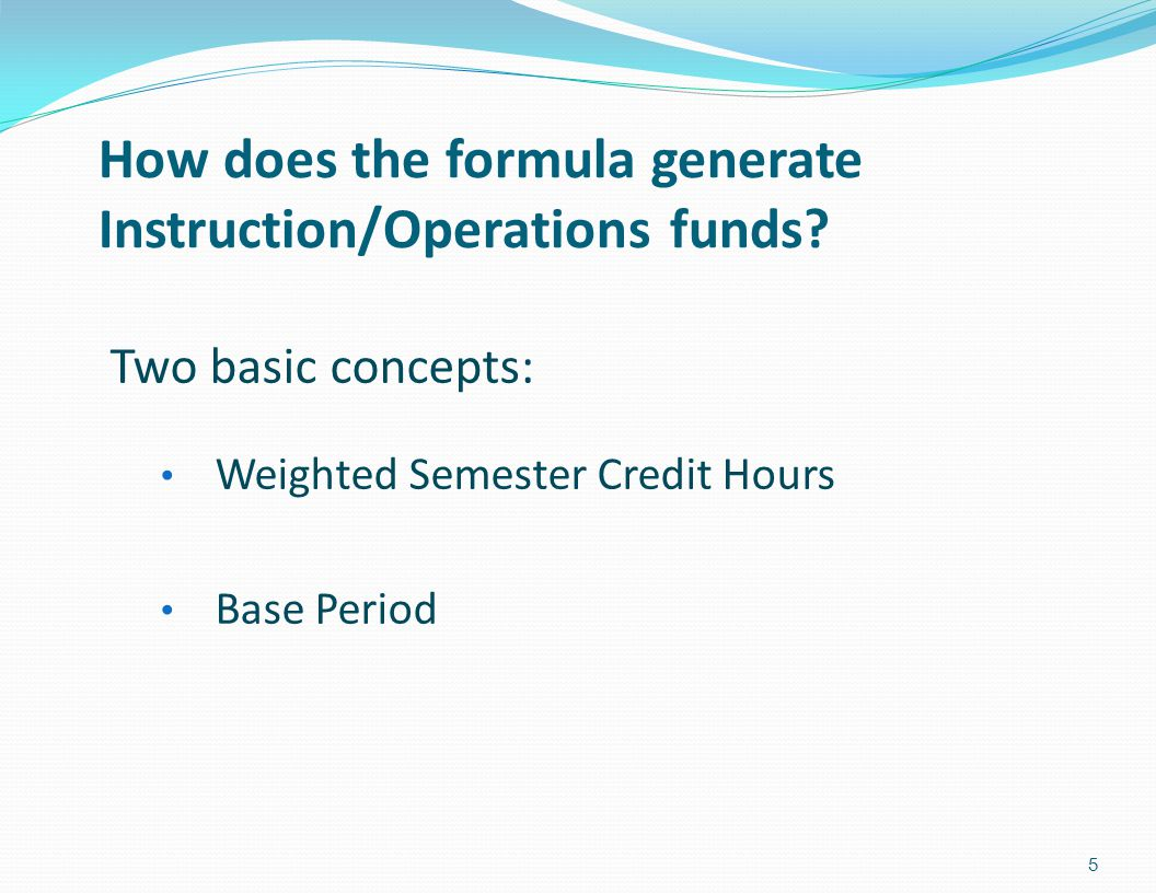 How does the formula generate Instruction/Operations funds.