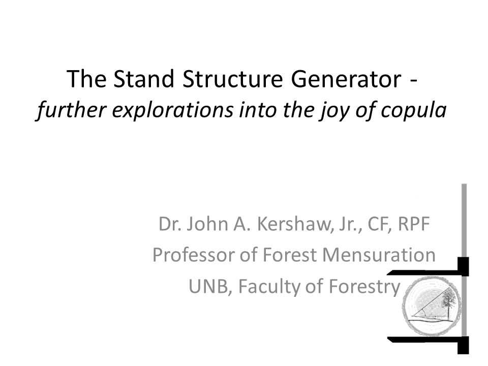 The Stand Structure Generator - further explorations into the joy of copula Dr.