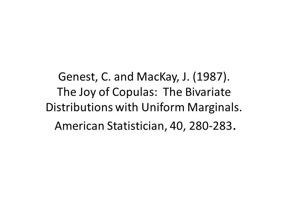 Genest, C. and MacKay, J. (1987).