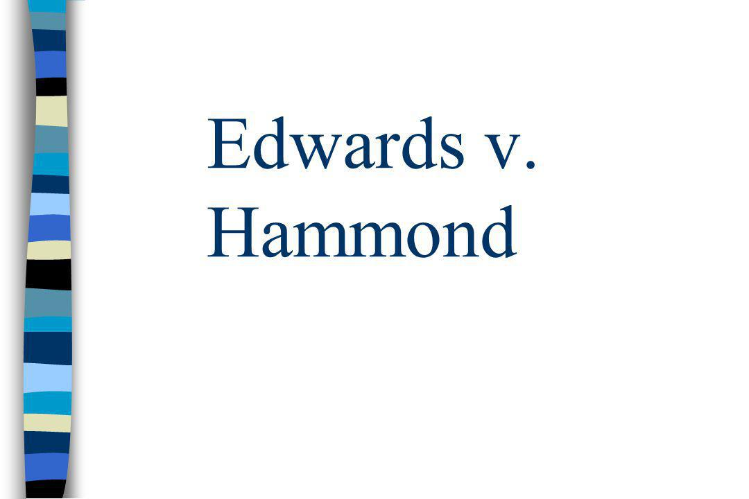 Edwards v. Hammond