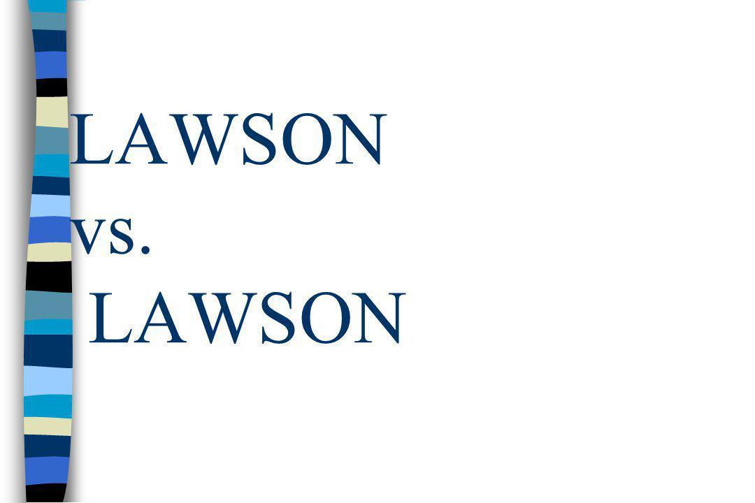 LAWSON vs. LAWSON