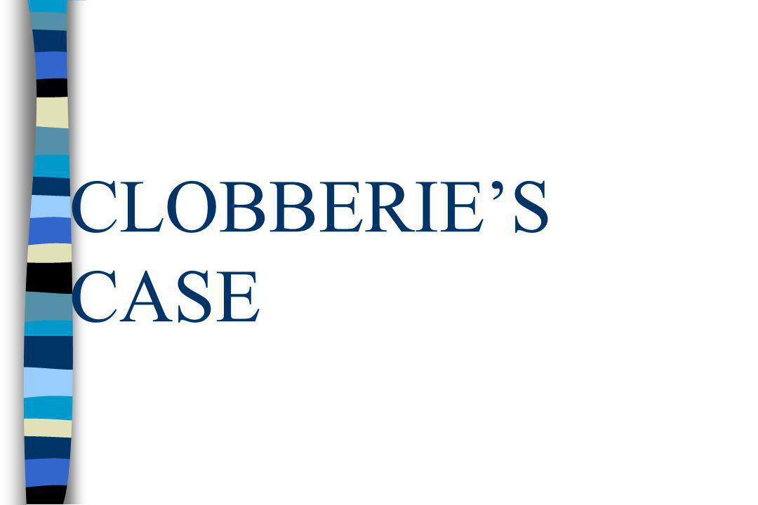 CLOBBERIE'S CASE