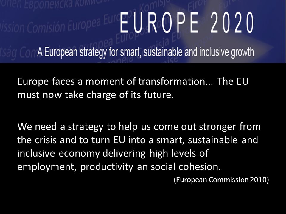 Europe faces a moment of transformation... The EU must now take charge of its future.