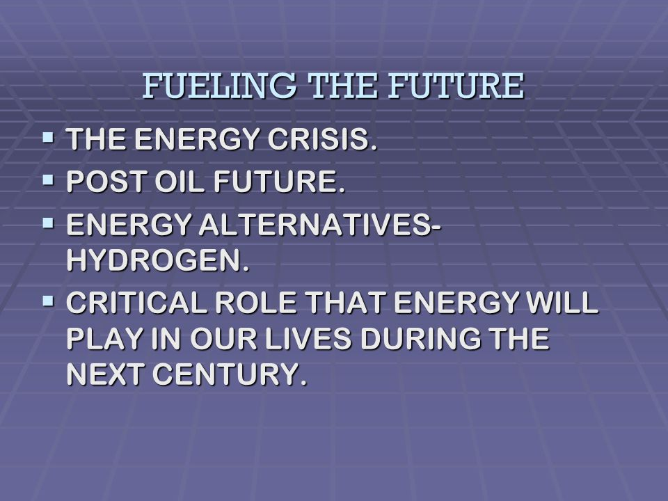 TOP 10 TRENDS TO RE-SHAPE THE FUTURE 1. FUELING THE FUTURE 2.