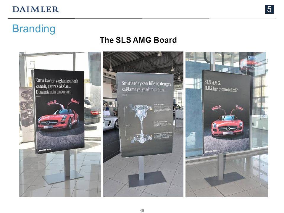 40 5 Branding The SLS AMG Board