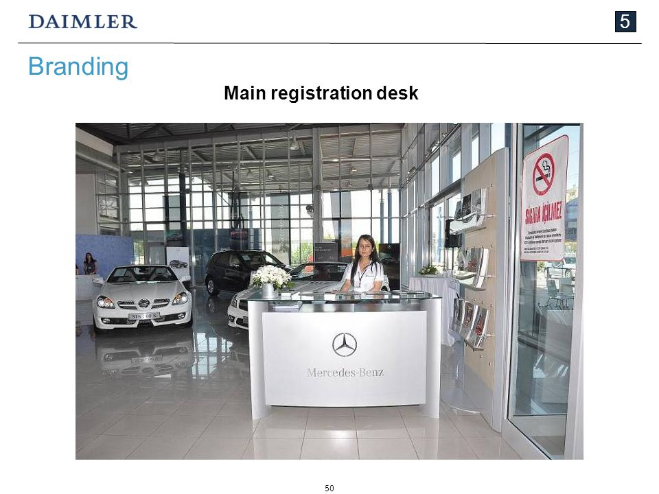 50 5 Branding Main registration desk
