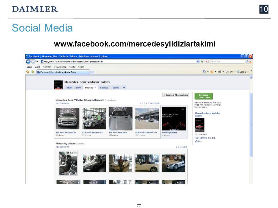 77 10 Social Media www.facebook.com/mercedesyildizlartakimi