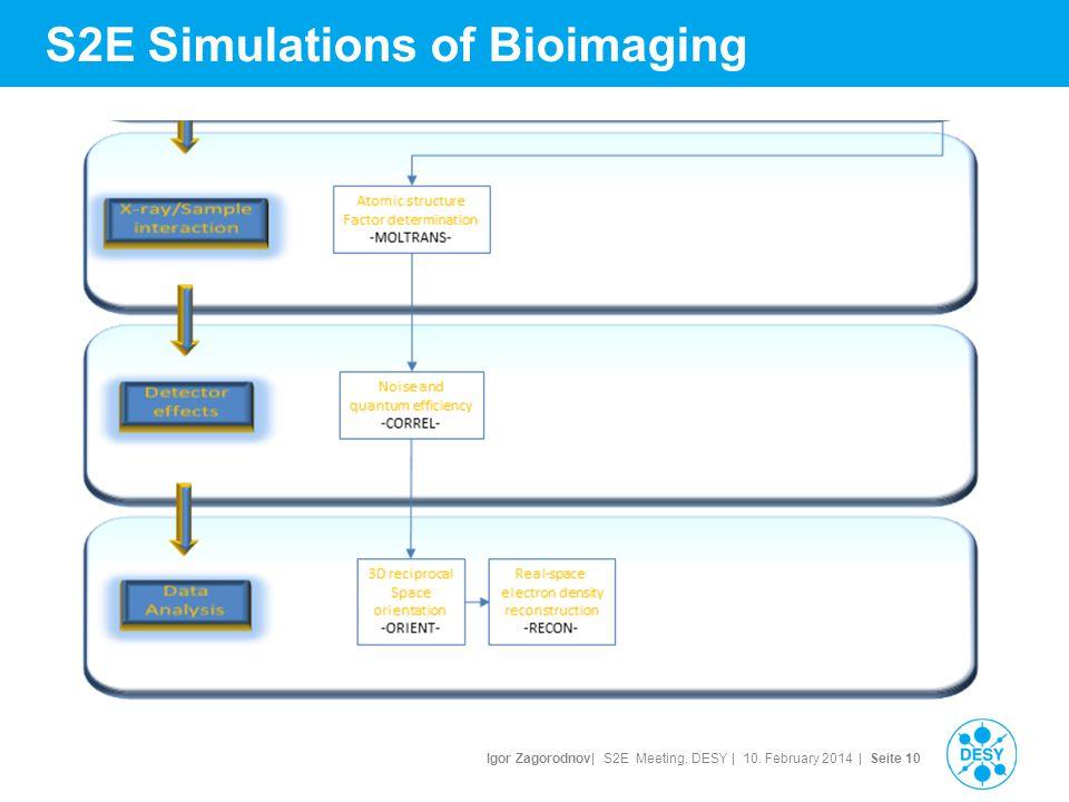 Igor Zagorodnov| S2E Meeting, DESY | 10. February 2014 | Seite 11 S2E Simulations of Bioimaging
