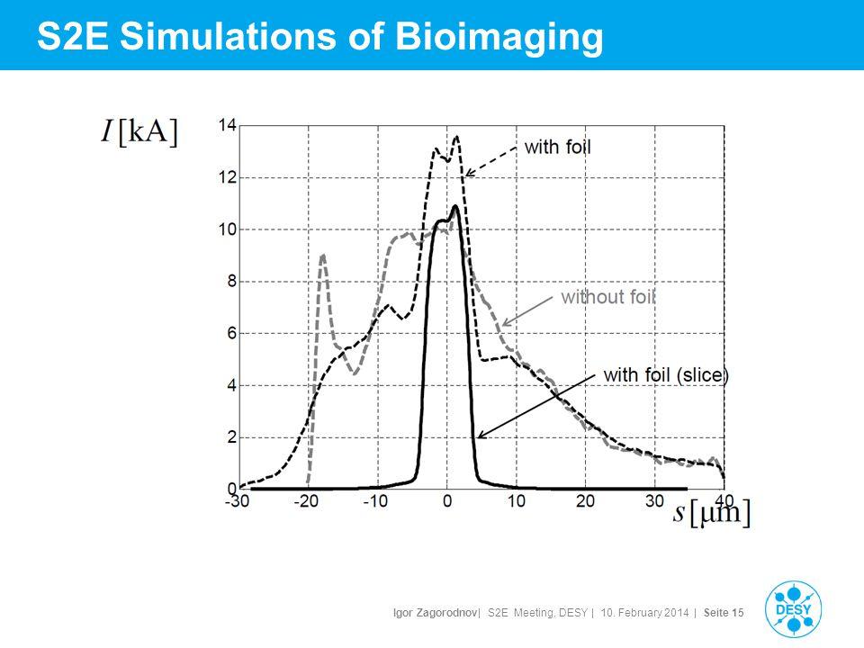 Igor Zagorodnov| S2E Meeting, DESY | 10. February 2014 | Seite 16 S2E Simulations of Bioimaging