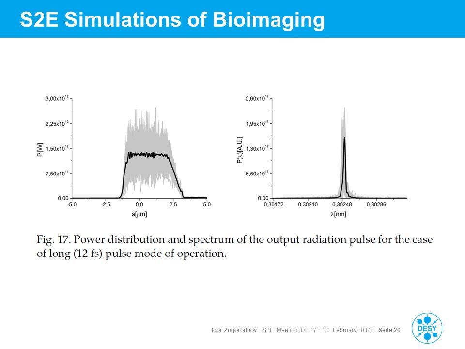 Igor Zagorodnov| S2E Meeting, DESY | 10. February 2014 | Seite 21 S2E Simulations of Bioimaging
