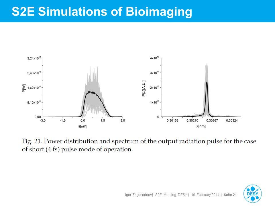Igor Zagorodnov| S2E Meeting, DESY | 10. February 2014 | Seite 22 S2E Simulations of Bioimaging