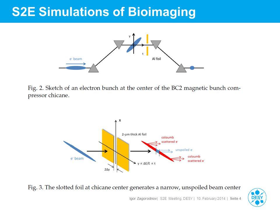 Igor Zagorodnov| S2E Meeting, DESY | 10. February 2014 | Seite 5 S2E Simulations of Bioimaging