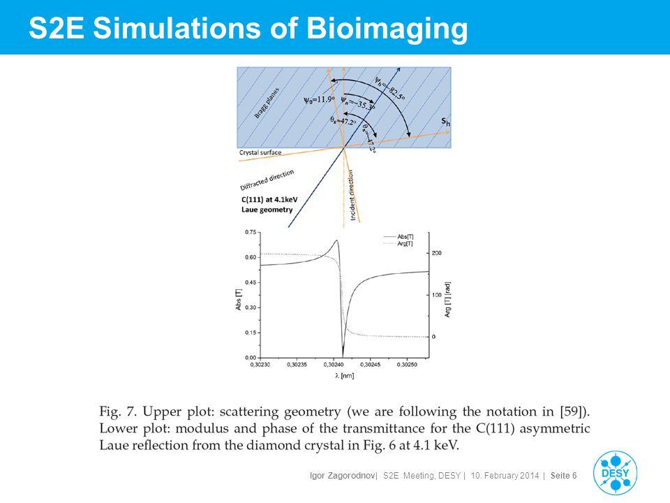 Igor Zagorodnov| S2E Meeting, DESY | 10. February 2014 | Seite 7 S2E Simulations of Bioimaging
