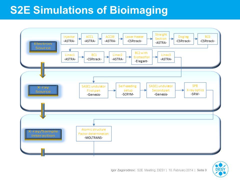 Igor Zagorodnov| S2E Meeting, DESY | 10. February 2014 | Seite 10 S2E Simulations of Bioimaging