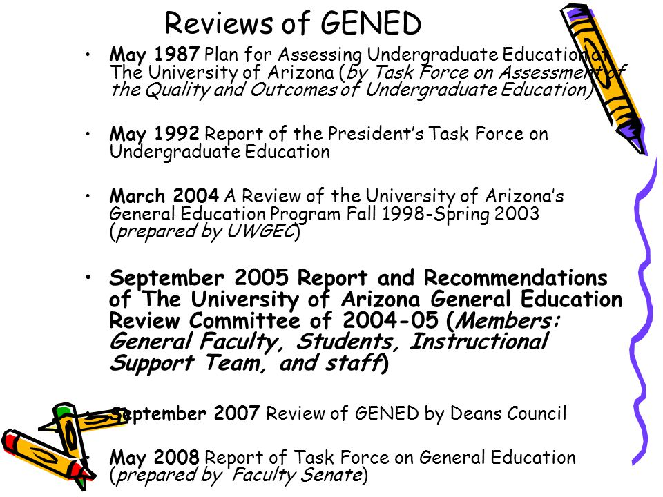 UWGEC response to 2005 Report in AY 2006-07 Created Diversity Emphasis option by including sexual orientation Created Review Process for Tier I and Tier II Courses (to be reported on by T.
