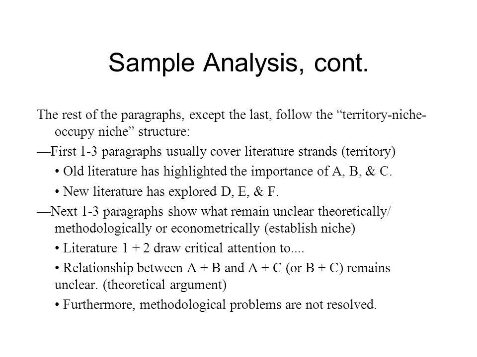 Sample Analysis, cont.