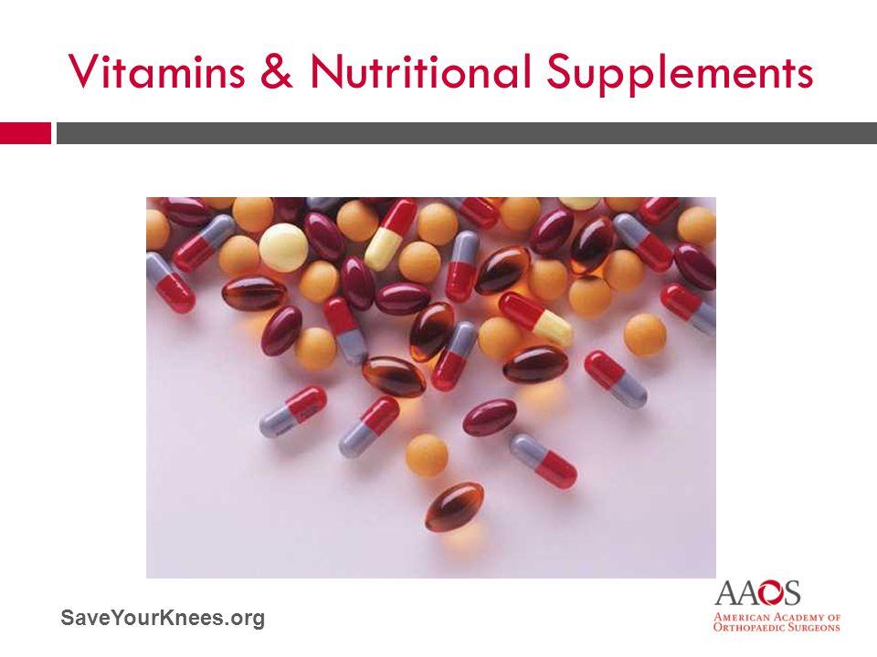 SaveYourKnees.org Vitamins & Nutritional Supplements