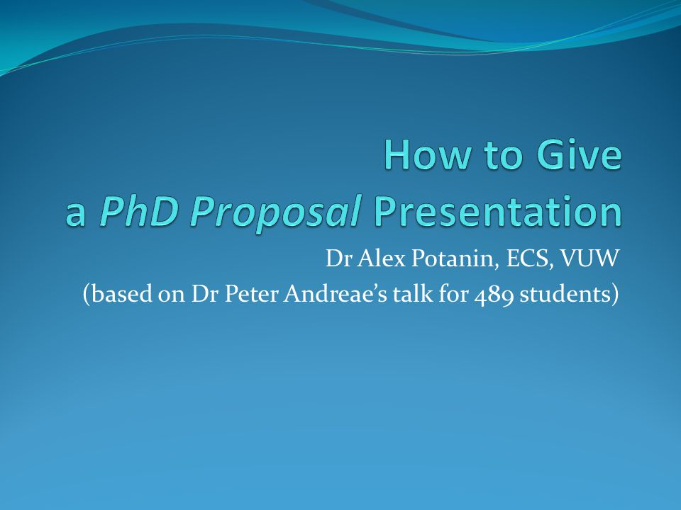 Dr Alex Potanin, ECS, VUW (based on Dr Peter Andreae's talk for 489 students)