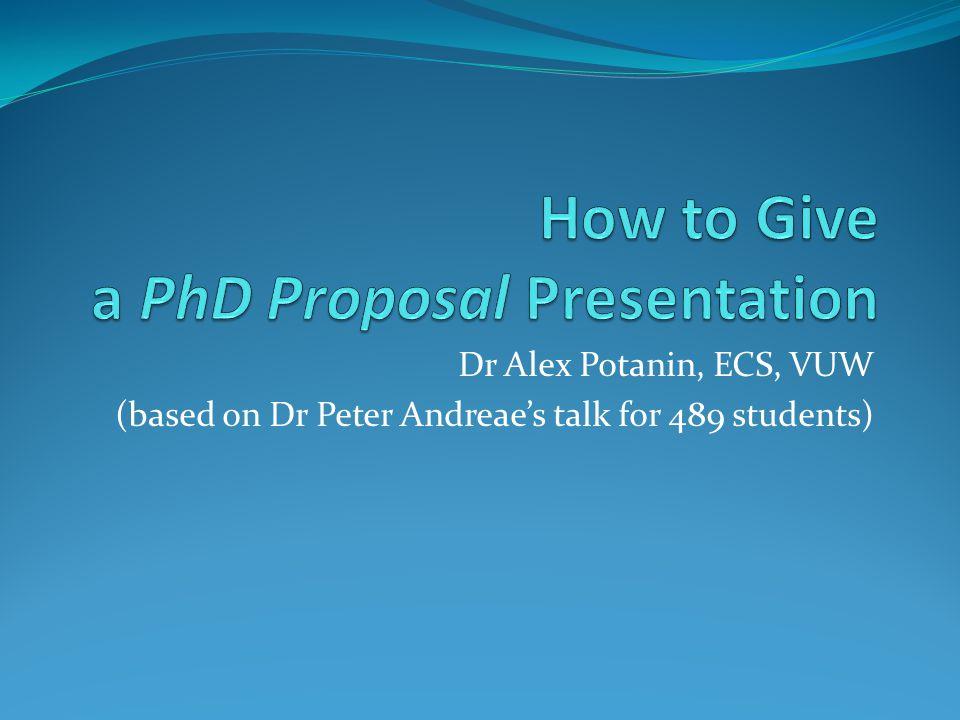 Dr Alex Potanin, ECS, VUW (based on Dr Peter Andreae's talk for 489 students)