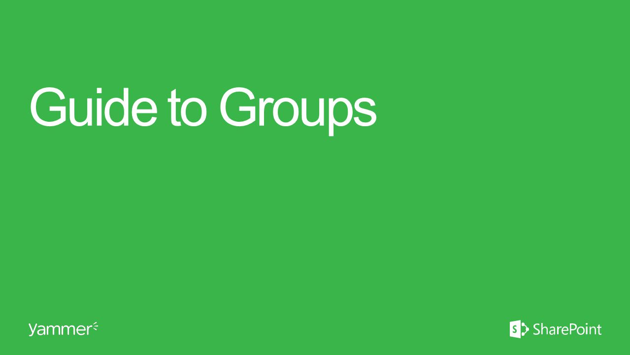 Guide to Groups