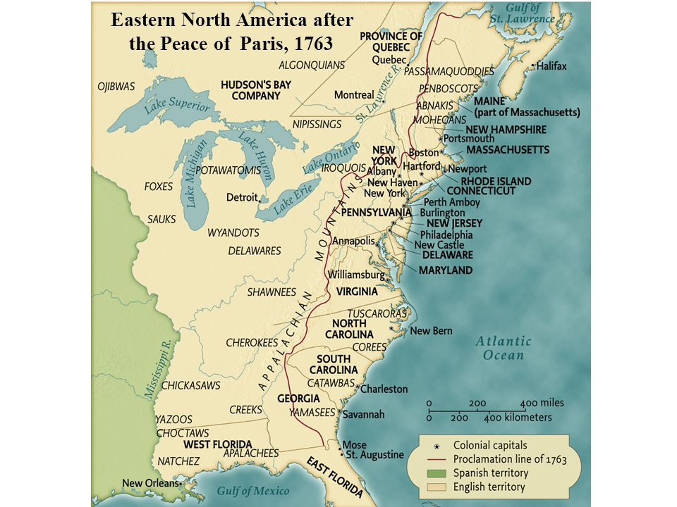 Eastern North America after the Peace of Paris, 1763 pg. 154 Eastern North America after the Peace of Paris, 1763