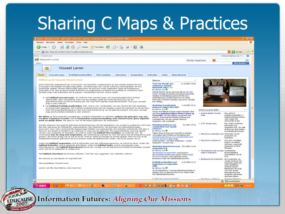 Sharing C Maps & Practices