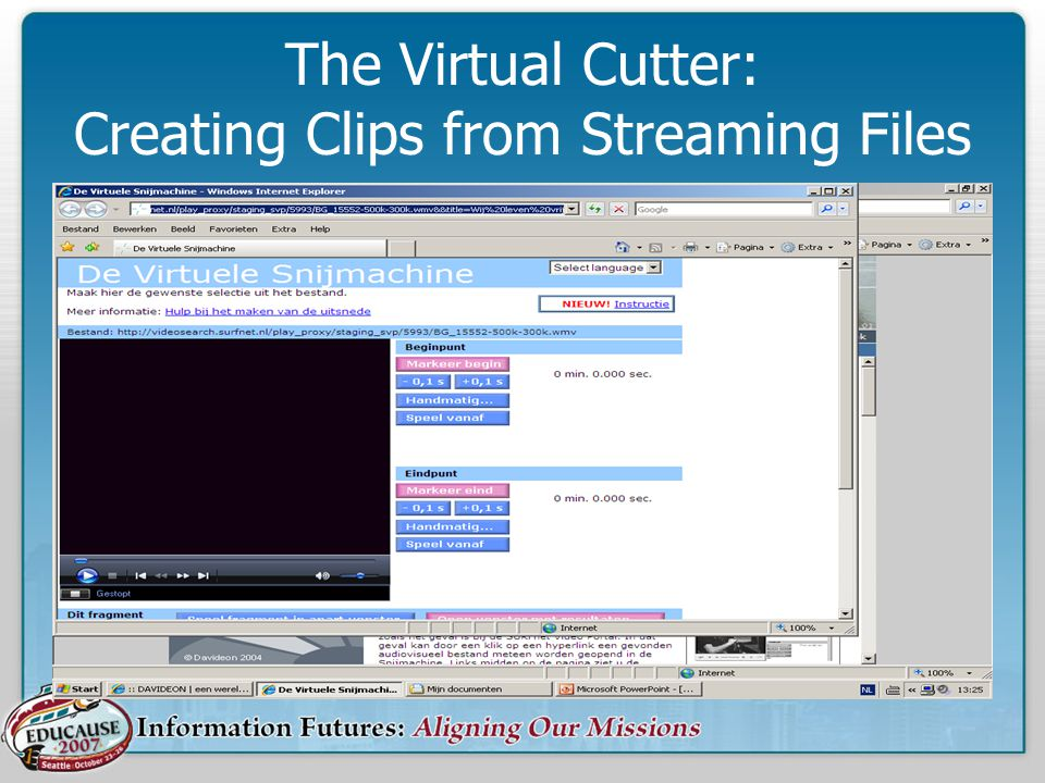 The Virtual Cutter: Creating Clips from Streaming Files