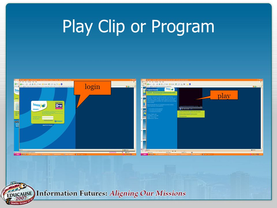 Play Clip or Program login play