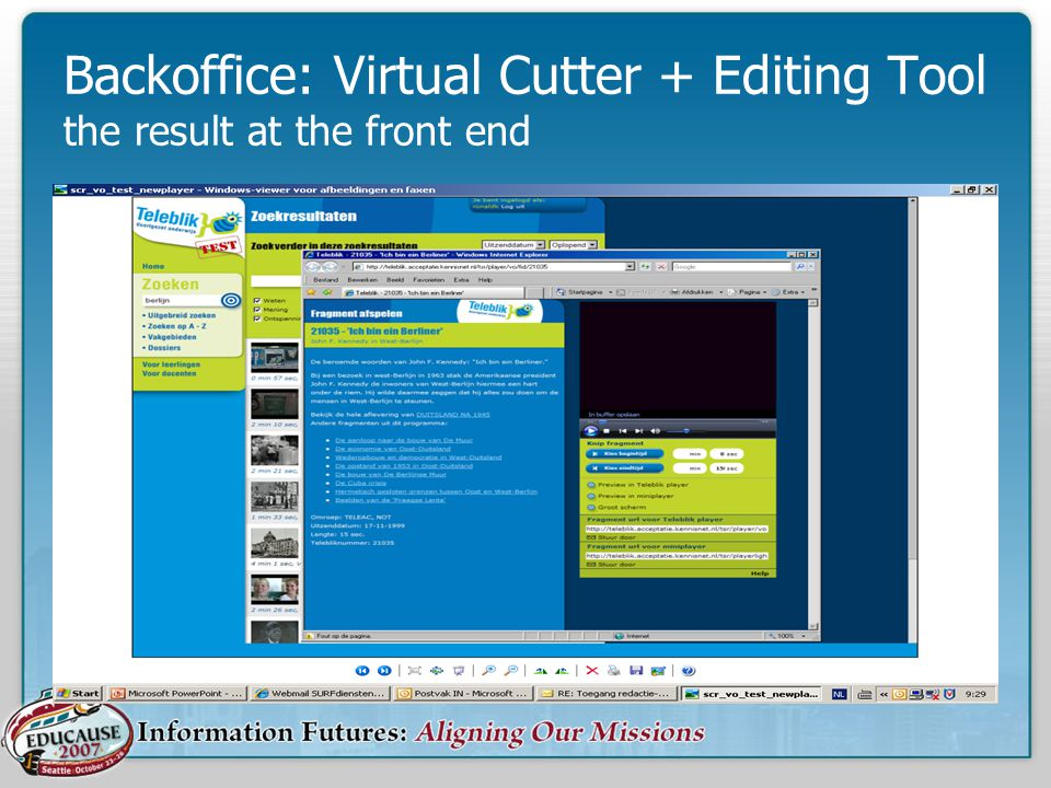 Backoffice: Virtual Cutter + Editing Tool the result at the front end