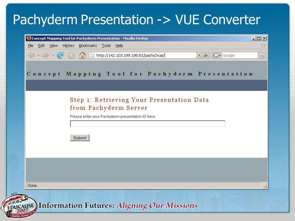 Pachyderm Presentation -> VUE Converter