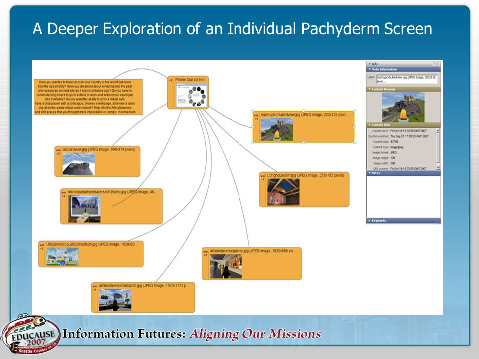 A Deeper Exploration of an Individual Pachyderm Screen