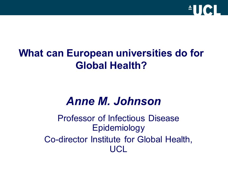 What can European universities do for Global Health.