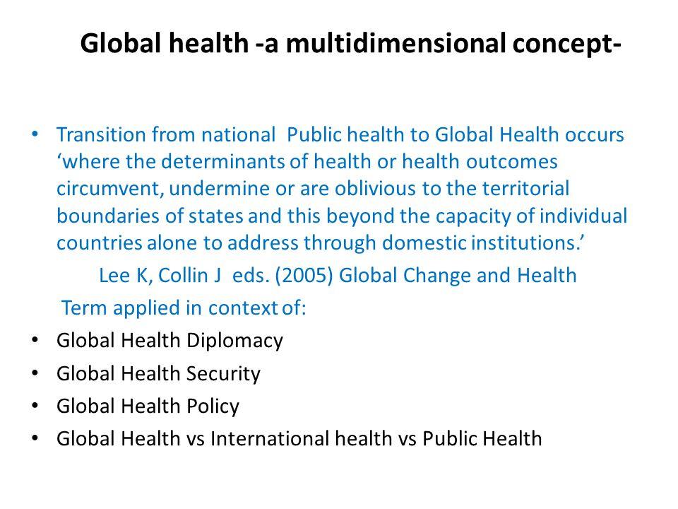 What is global health.Global health is...