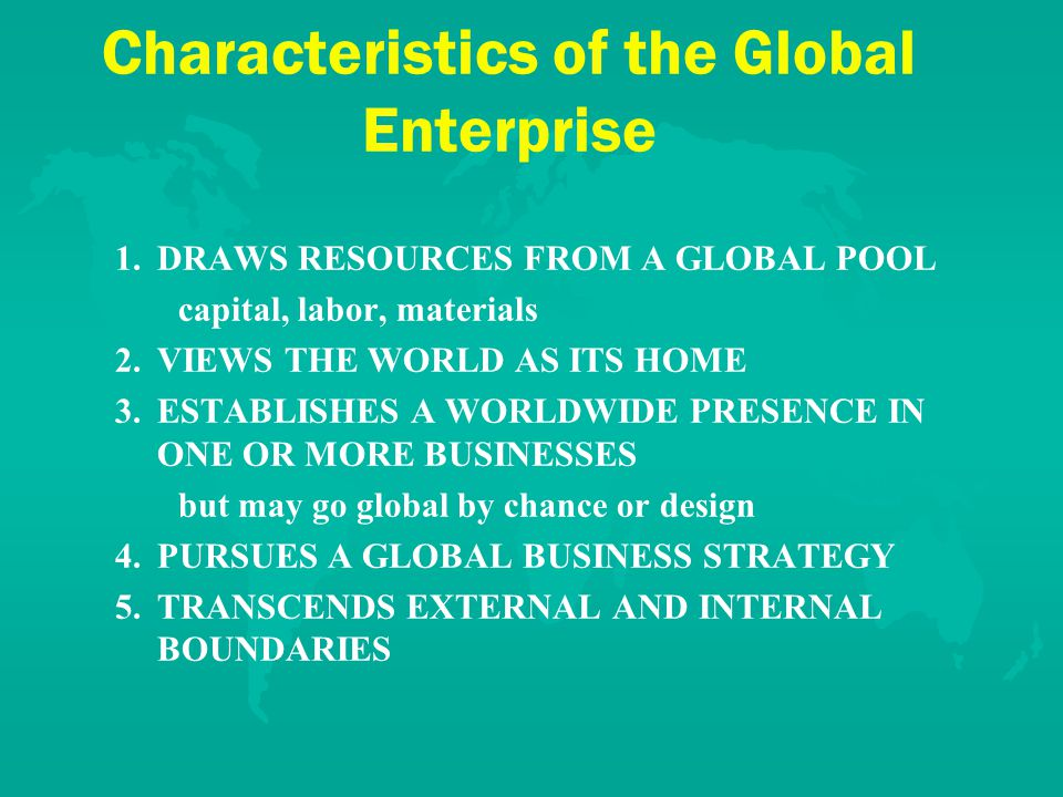 Let's Look at Some Global Firms