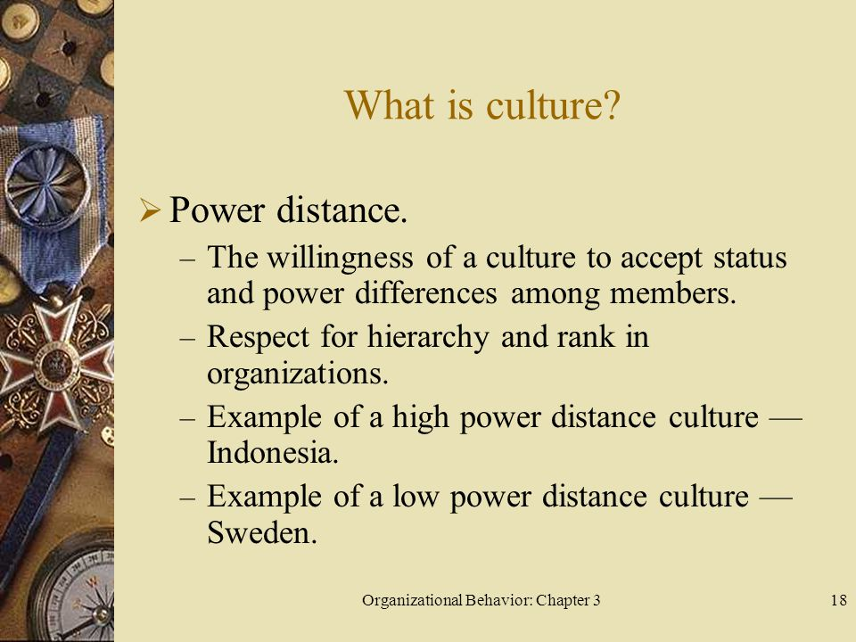 Organizational Behavior: Chapter 318 What is culture.